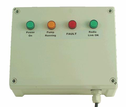 radio remote pump control panel